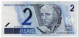 BRAZIL,2 REALS,2003-,P.249b,XF-AU - Brazilië