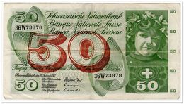 SWITZERLAND,50 FRANCS 1971,P.48k,VF - Svizzera