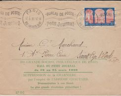 LSC - OBL. MEC. : PARIS / RUE LAFAYETTE 59-61 / BUREAU DE POSTE Du PETIT JOURNAL /17.3.30 - Postmark Collection (Covers)