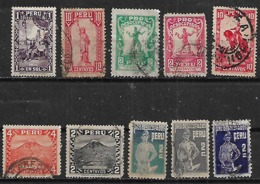 1932-6 Peru Inca-libertad-desocupados-monumento Caballo-monte 10v . - Pérou