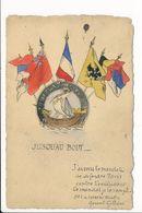 Carte Avec Drapeaux  ( Illustration ) Jusqu'au Bout ( Général Galliéni ) - Patriotiques