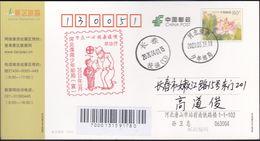 CHINA CHINE CINA POSTCARD HEBEI TANGSHAN  TO JILIN CHANGCHUN  WITH ANTI COVID-19 INFORMATION - China