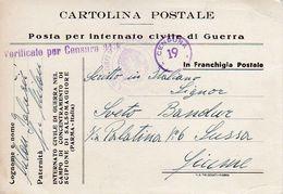 SCIPIONE CONCENTRAMENTO, POSTA PER INTERNATO CIVILE DI GUERRA, 1943 - Unclassified