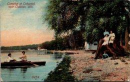 Wisconsin Camping At Oakwood Near Oshkosh 1913 - Oshkosh