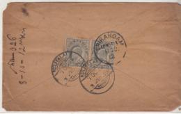 British India Used 1912 Cover Ed Series, - India (...-1947)