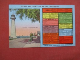 Check List  Light House Biloxi - Mississippi >    Ref 4142 - Autres