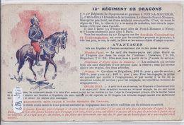 PONT-A-MOUSSON- BELLE ILLUSTRATION DU 12 EME REGIMENT DE DRAGONS - Pont A Mousson