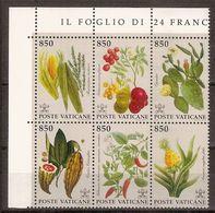 """(Fb).Vaticano.1992.""""Flora"""".Blocco Di 6 Nuovo,integro (195-18) - Blocchi E Foglietti"""