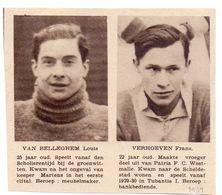 Orig. Knipsel Coupure Magazine Tijdschrift - Sport Voetbal Spelers Van Belleghem & Verhoeven - Tubantia - 1931 - Non Classés