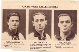 Orig. Knipsel Coupure Magazine Tijdschrift - Sport Voetbal Spelers Lambrechts, Van Beeck, Ulens Van Antwerp  - 1931 - Non Classés