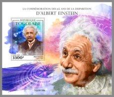 TOGO 2020 MNH Albert Einstein S/S - IMPERFORATED - DHQ2018 - Albert Einstein