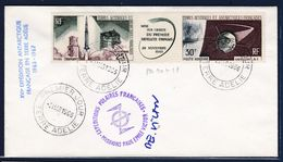 TAAF TERRE ADELIE PA11A SUR LETTRE 2/3/1966  AUTOGRAPHE PAUL-EMILE VICTOR - Storia Postale