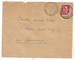 GANDON 18FR SEUL LETTRE STRASBOURG 2.2.1952 POUR LE LUXEMBOURG TARIF SPECIAL RARE - 1945-54 Marianne De Gandon