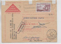 1960 - DORDOGNE - BUREAU De DISTRIBUTION De CELLES Sur CARTE CONTRE REMBOURSEMENT REFUSEE - RETOUR - Marcophilie (Lettres)