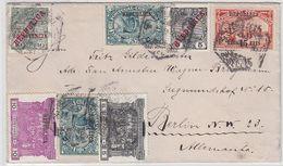 Portugal Alter Brief Mit Bunter Frankatur Nach Berlin - 1910 : D.Manuel II