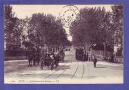 06 - TRAMWAYS - NICE - BOULEVARD CIMIEZ - ATTELAGE - ANIMEE - - Transport Urbain - Auto, Autobus Et Tramway