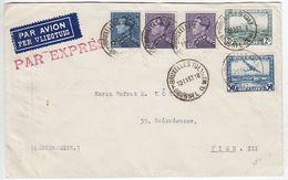 Belgien FLP-Express-Brief Mit MIF  Nach Wien + 3xAKs - Covers & Documents