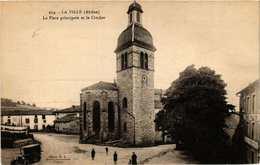 CPA La Ville La Place Principale Et Le Clocher (614471) - France