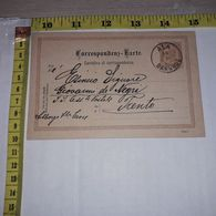 FB1620 AUSTRIA 1892 CARTOLINA DI CORRISPONDENZA PER TRENTO TIMBRO ALA BAHNHOF - Storia Postale