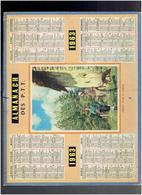 CALENDRIER 1963 DEPART POUR LA CHASSE IMPRIMEUR OBERTHUR ALMANACH DES P.T.T. - Calendriers