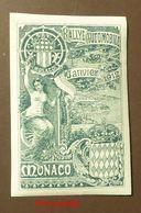 Werbemarke Cinderella Poster Stamp  Monaco Rallye Automobile 1912  #112-grün - Erinnophilie