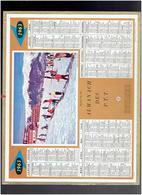 CALENDRIER 1963 ECOLE DE SKI IMPRIMEUR OBERTHUR ALMANACH DES P.T.T. - Calendriers