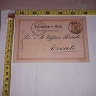FB1622 AUSTRIA 1891 CARTOLINA DI CORRISPONDENZA DA TRENTO CON TIMBRO ALA BAHNHOF - Storia Postale