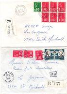 Chalons-sur-Marne RP Distribution 1977 & Saint-Mihiel 1977 - 2 Lettre Recommandé Avec étiquette Et Griffe - 1961-....
