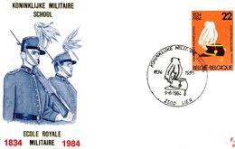 2134 (école Royale Militaire) Sur FDC P721 Cachet Lier 9-6-1984 - FDC