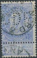 [55458]TB//O/Used-N° 60, Perforé 'JDF' Et TB Obl 'Nord 3 / Anvers', Nipa +19? - 1893-1900 Fine Barbe