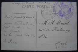 Pont Sainte Maxence (Oise) 1914 67 Eme Régiment Territorial D'infanterie Secteur Postal 76, Carte Pour Niort - Postmark Collection (Covers)