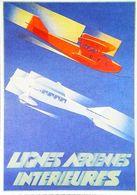 Publicité - Lignes Intérieures Vers 1930 - CARTE POSTALE MODERNE (Reproduction D'Affiche Ancienne) - Advertisements