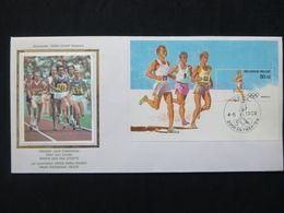 "BELG.1988 BL64 (2287) FDC Zijde/soie (Antwerpen) : ""Olympische Spelen / Jeux Olympiques Séoul "" - 1981-90"