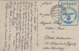Marine-Feldpost 1942 - Bredstedt Schleswig - Rs: Schnellboot - Germania