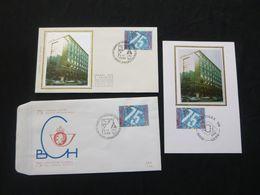 """BELG.1988 2306 FDC & FDC & Mcard Zijde/soie  : """" Bestuur Der Postcheques /L'office Des Cheques Postaux """" - 1981-90"""