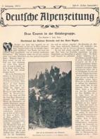 557 Günther Von Saar Geislergruppe Dolomiten Artikel Mit 8 Bildern 1903 !! - Libros, Revistas, Cómics