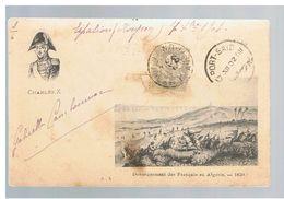 JM11.06 /  CPA /  DEBARQUEMENT DES FRANCAIS EN ALGERIE EN 1830 / Oblitération AVEYRON Vers PORT-SAID 1902 - ALEXANDRIE - Andere Gemeenten