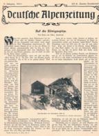 558 Heinz Von Ficker Königsspitze Sulden Dolomiten Artikel Mit 5 Bildern 1903 !! - Libros, Revistas, Cómics