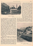 559 Hans Sitterer Grödental St.Ulrich Dolomiten Artikel Mit 8 Bildern 1903 !! - Libros, Revistas, Cómics
