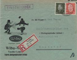 Illustrierter Umschlag Wibu-Werk - Photographische Artikel - Einschreiben Nach Hannover (rsA) - Ebert Hindenburg - Germania