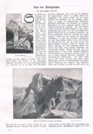 561-2 Hans Seyffert Palagruppe Dolomiten Artikel Mit 21 Bildern 1905 !! - Libri, Riviste, Fumetti