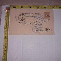 FB1631 AUSTRIA 1883 CARTOLINA DI CORRISPONDENZA TIMBRI POSTALI TRENTO - Briefe U. Dokumente