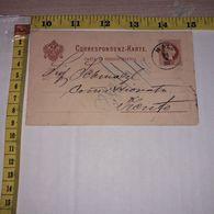 FB1633 AUSTRIA CARTOLINA DI CORRISPONDENZA 1883 TIMBRI POSTALI VALORE BOLLO 2 KR. TRENTO - Briefe U. Dokumente