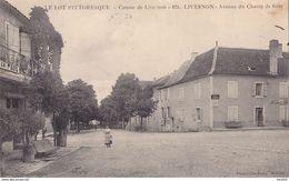 AVIT18-   LIVERNON  DANS LE LOT AVENUE DU CHAMP DE FOIRE   CPA  CIRCULEE - France