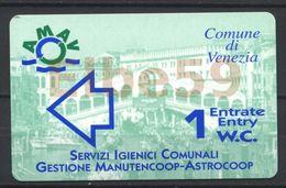 Venezia (VE - Veneto), Comune Di Venezia, Servizi Igienici Comunali, 1 Entrata W.C., Usata - Tickets D'entrée