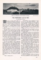 567-2 Georg Jäger Wolkenstein Piz Boe Dolomiten Artikel Mit 7 Bildern 1903 !! - Libros, Revistas, Cómics