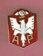 INSIGNE EMAIL ASSOCIATION DES ANCIENS COMBATTANTS POLONAIS EN FRANCE POLSKA POLOGNE FABRICANT E. KATZ PARIS - Autres