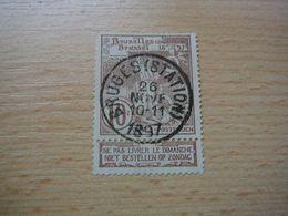 (07.06) BELGIE 1896 Nr 73 Mooie Afstempeling BRUGES STATION 1897 - 1894-1896 Expositions