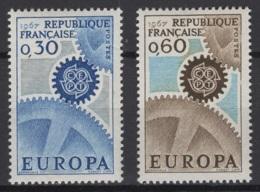 France: 1967. Y&T  N° 1521/22 ** MNH, Neuf(s). Cote Y&T 2020 : 1 € - Neufs
