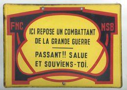 Plaque émaillée 14/18 - 1914-18